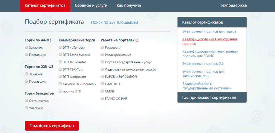 ЭЦП для онлйан-касс