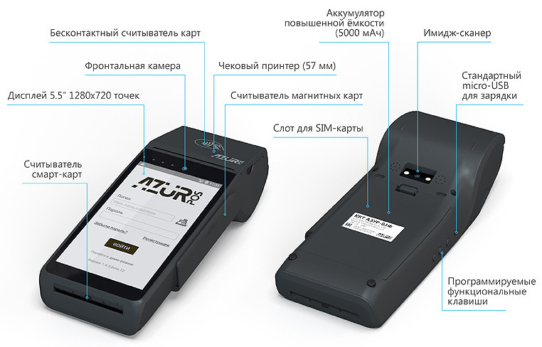 возможности ККТ Азур-01Ф
