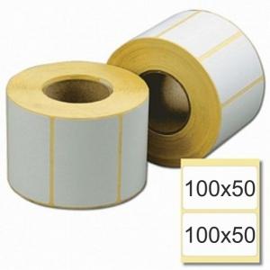 Термотрансферная этикетка 100х50 для прямой печати