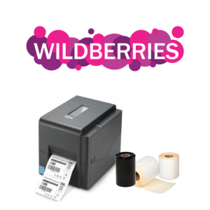 Комплект для маркировки Wildberries: Принтер этикеток Godex TCS TE200 U + этикет-лента + красящая лента